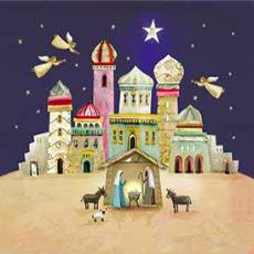 Barnados - Bethleham Collage Charity Christmas Card