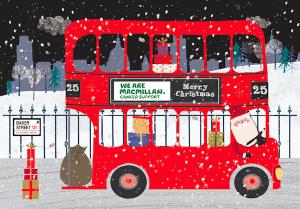 Macmillan - Christmas Bus Charity Christmas Card
